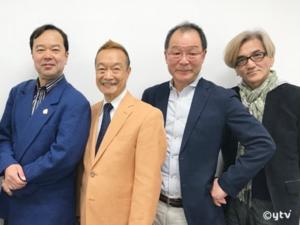 「シティーハンター」トークショー参加者。左からボク、神谷さん、植田さん、神志那さん。
