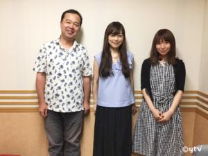 「スワラジ」収録スタジオで、左からボク、こだまさおりさん、夏怜さん