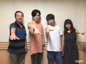 「スワラジ」収録スタジオにて、左からボク・RYOMAさん・KENTOさん・夏怜さん。