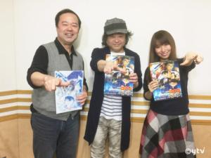 スワラジ収録スタジオにて。左からボク・檜山さん・夏怜さん。