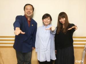 「スワラジ」収録スタジオで。左からボク、永岡監督、夏怜さん。