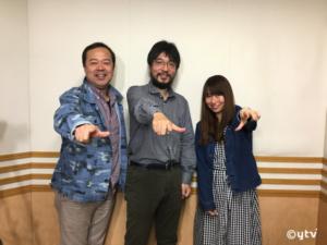 「スワラジ」収録スタジオで。左からボク、大倉さん、夏怜さん。