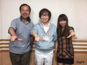 「スワラジ」収録スタジオで。左からボク、古川さん、夏怜さん。