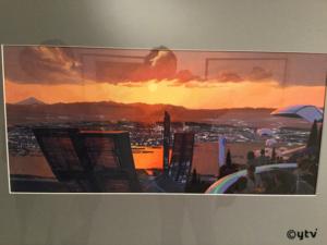 「シド・ミード展」写真撮影OKの作品「TOKYO2040」、カタログの表紙に使われてる絵で、1991年に描かれています。