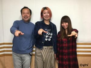 「スワラジ」収録スタジオで。左からボク、影山さん、夏怜さん。
